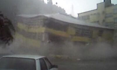 WEA 0017 Heavy rain destroy the building