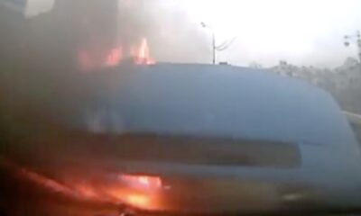 YNG 0019 Transporter Van got fire