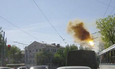 YNG 0021 Tram wire catch fire