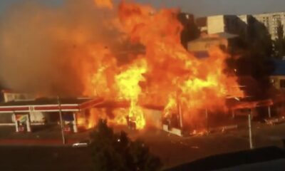 YNG 0022 Gas Station fire