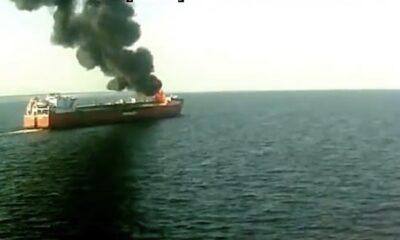 ship fire video