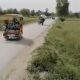 speeding rickshaws collided on a flat, empty roadz