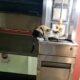 CAT 0017 sly cat enjoying gyro kebab