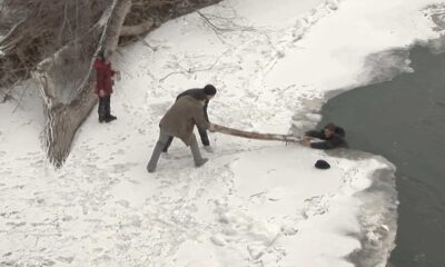KUR 0017 rescue from icy river during wedding ceremony