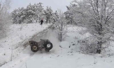 One of those who do ATV rides on the weekend fail at the short ramp