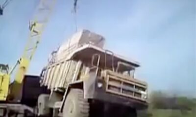 everything got messed up when asked to lower the weight on the dump truck that sank into the mud