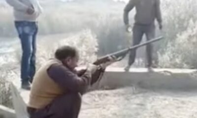 man who is very keen on hunting rifles and guns tries when there is a chance to shoot