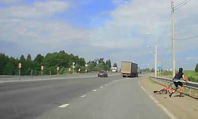 RID 0007 Truck knocked down biker